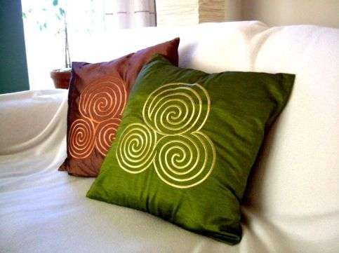 Celtic Spiral cushion covers